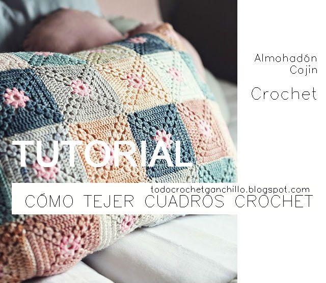 Todo crochet | Cuadritos en crochet | Pinterest | Puntadas, Cuadro y ...
