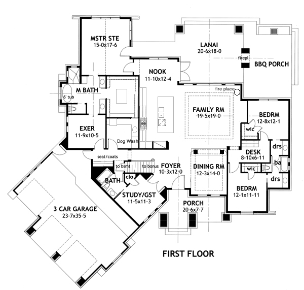 Pin By Erin Ballou On Home Plans Craftsman Style House Plans Dream House Plans House Floor Plans
