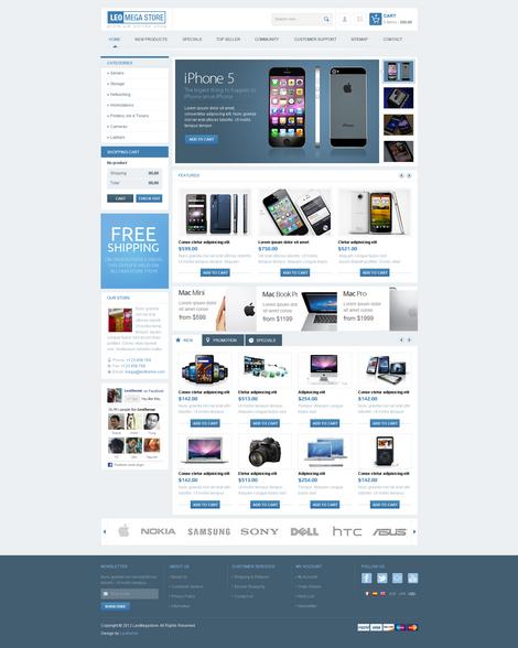 Leo Mega Store Theme Store, App store, Templates