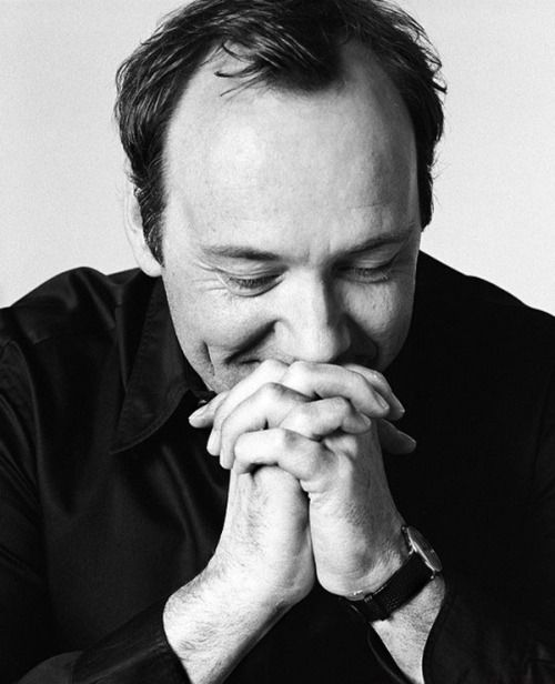 """chasingspacey:  """"Kevin Spacey by Andy Gotts. Spectacular! (Andy made Kevin change his clothes because apparently the denim and tartan shirt Kevin wore to the shoot was a little too bizarre for Mr. Gotts ;)  """"Behind The Mask"""" """"  This."""