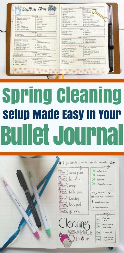 Organize Your Spring Cleaning With Bullet Journals   Planning Mindfully