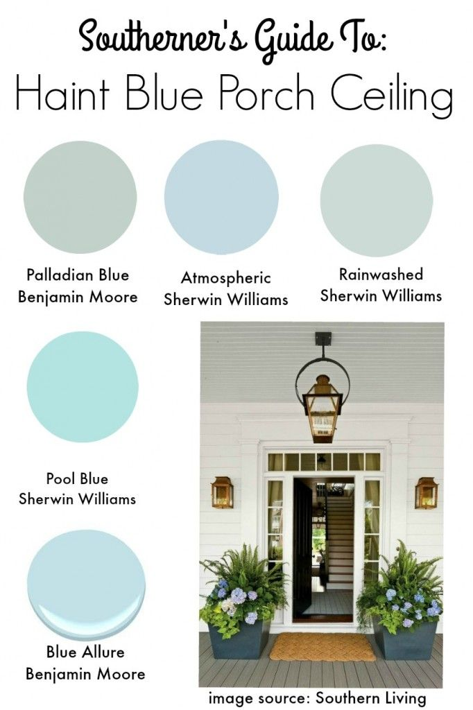 Southern Tradition How To Add Haint Blue Porch Ceiling State Of Mind
