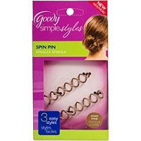 Goody Spin Pin ---my favorite thing to use to quickly put my hair up in a bun