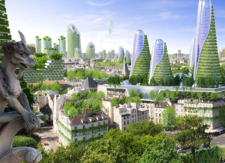 Solarpunk Imagines Sustainable Urban Jungles For The Future Kinder World Futuristic Architecture Green Architecture Eco Architecture
