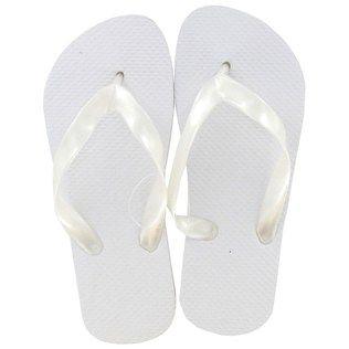 14d9bca7f Small White Adult Flip Flops