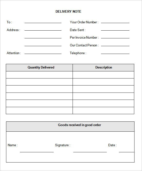 Proof Of Delivery Form Template Delivery Note Template 22 With 33 Up Label Template Word In 2021 Invoice Template Word Label Templates Notes Template