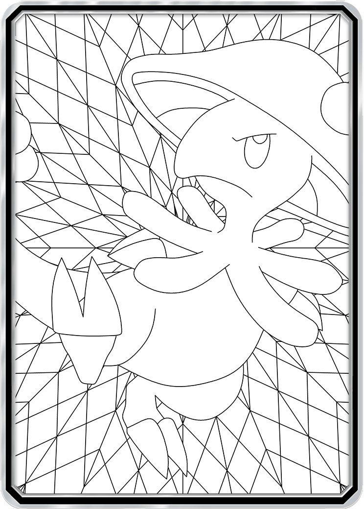 Color Me Breloom Custom Pokemon Coloring Card Pokemon Coloring Color Card Color Me