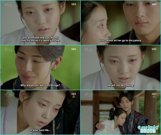 hae Soo ask Wang Jung not let her her daughter live in the palace