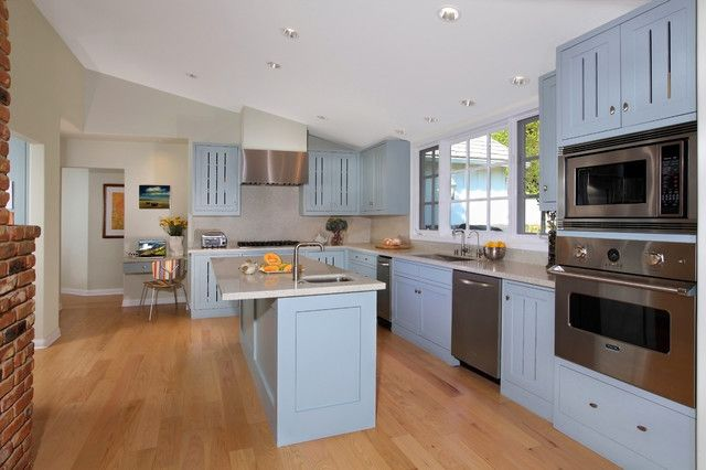 blue dream pacific palisades kitchen contemporary kitchen los angeles sarah barnard on kitchen cabinets vertical lines id=43862