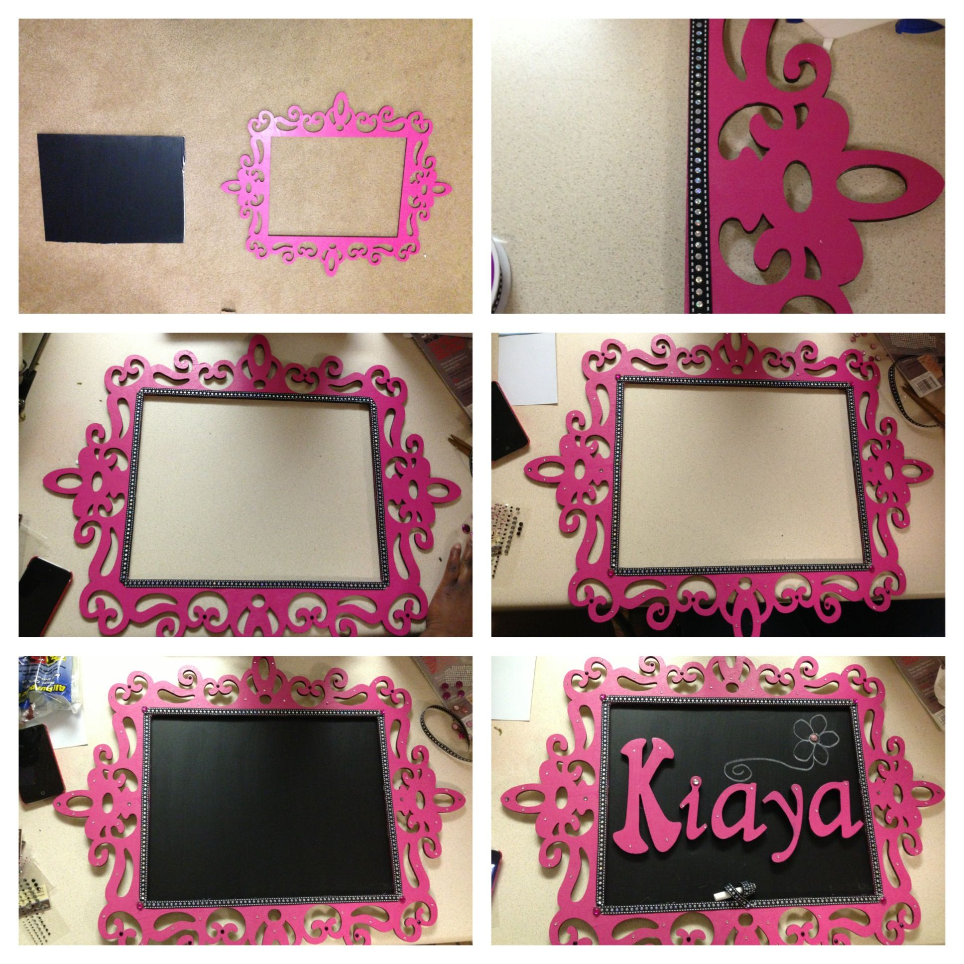 Chalkboard Name Plate All Was Used Was Wood Letters Chalkboard