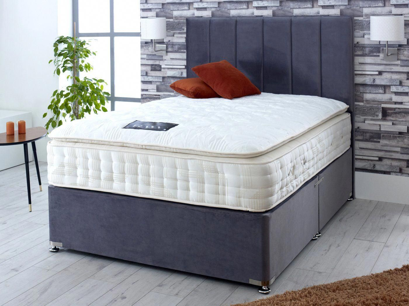 Divan Bed Set Includes Divan Base Mattress And Headboard