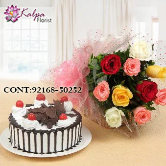 Sweet Melody Flowers And Cake Same Day Delivery Flower Cake Cake Delivery Rose Cake