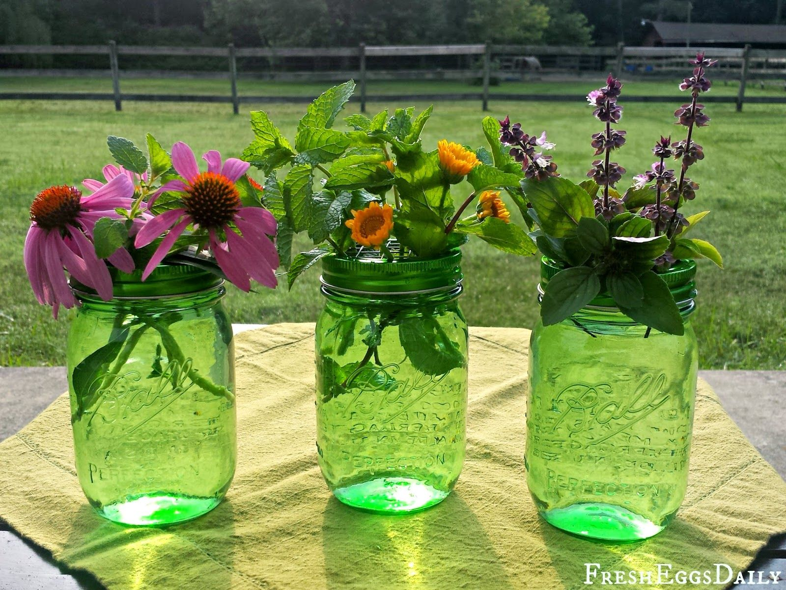 DIY Mason Jar Flower Frogs | Fresh Eggs Daily®