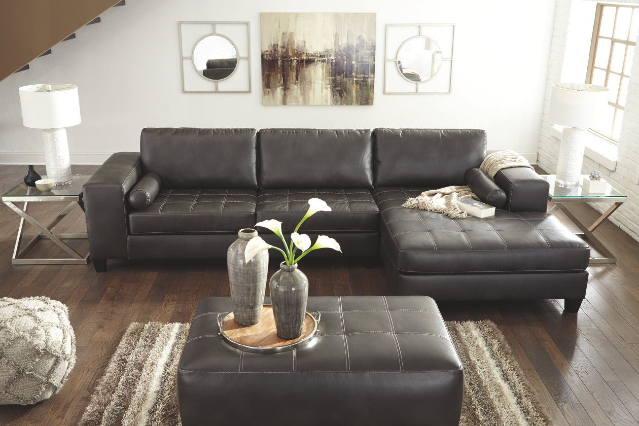 Nokomis 2 Piece Sectional With Chaise Ashley Furniture Homestore