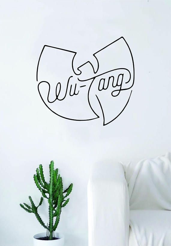 Wutang Cream Quote Wall Decal Sticker Room Art Vinyl Rap