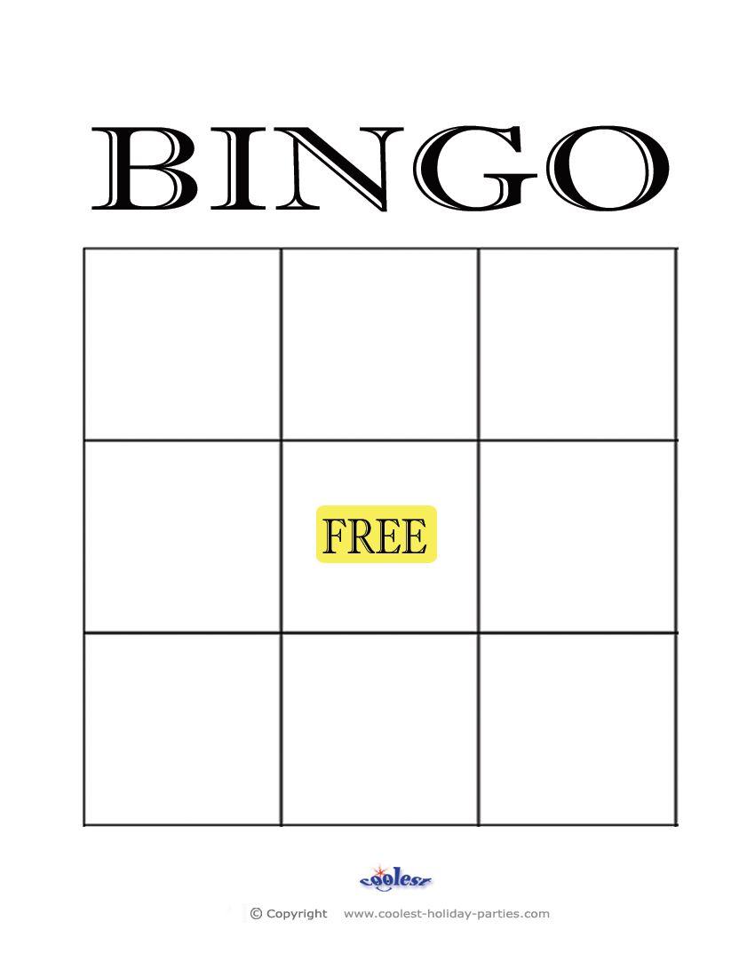 Free Printable Blank Bingo Cards Template Aba Pinterest Bingo