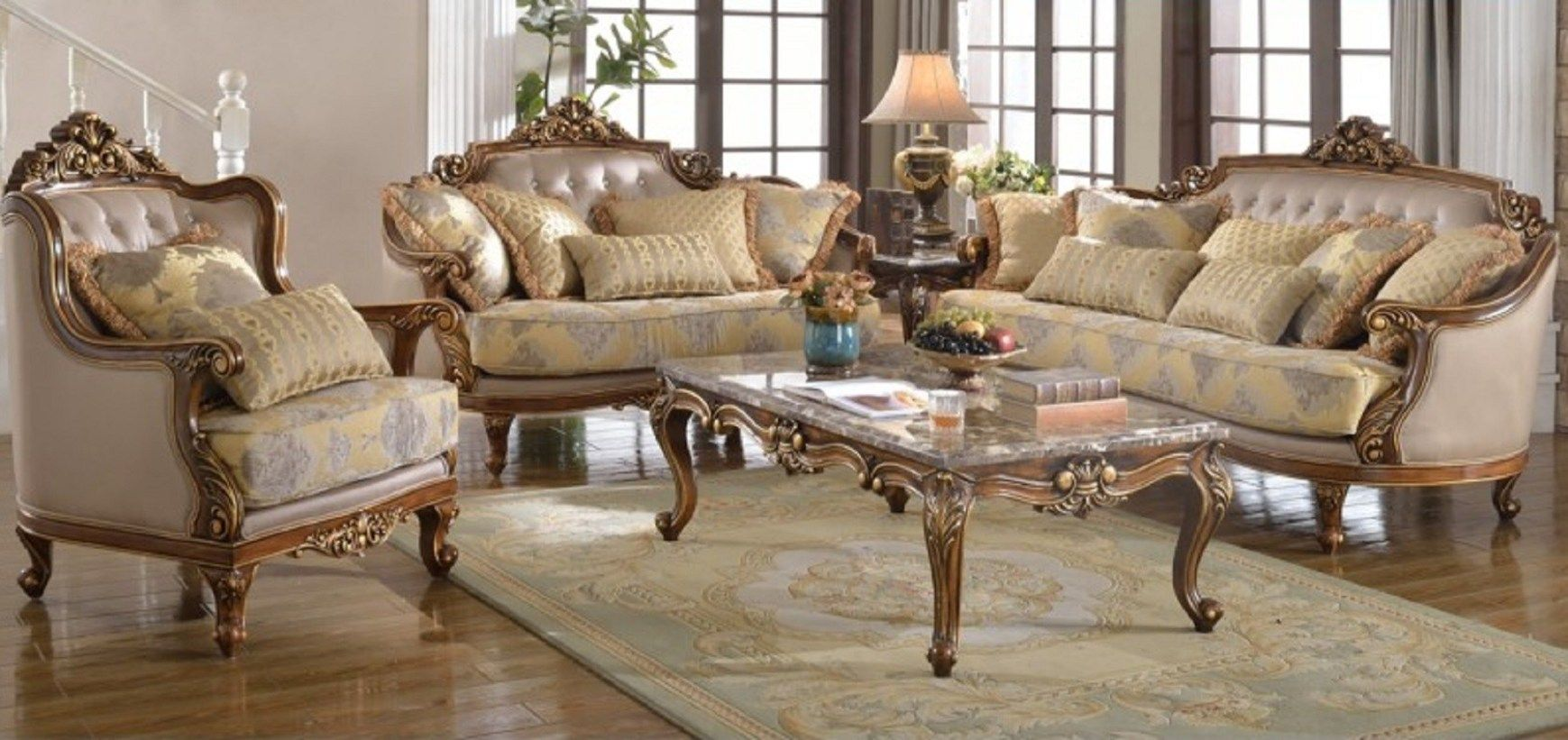 Hd 5800 Homey Design Royal Dining Collection Set Furniture