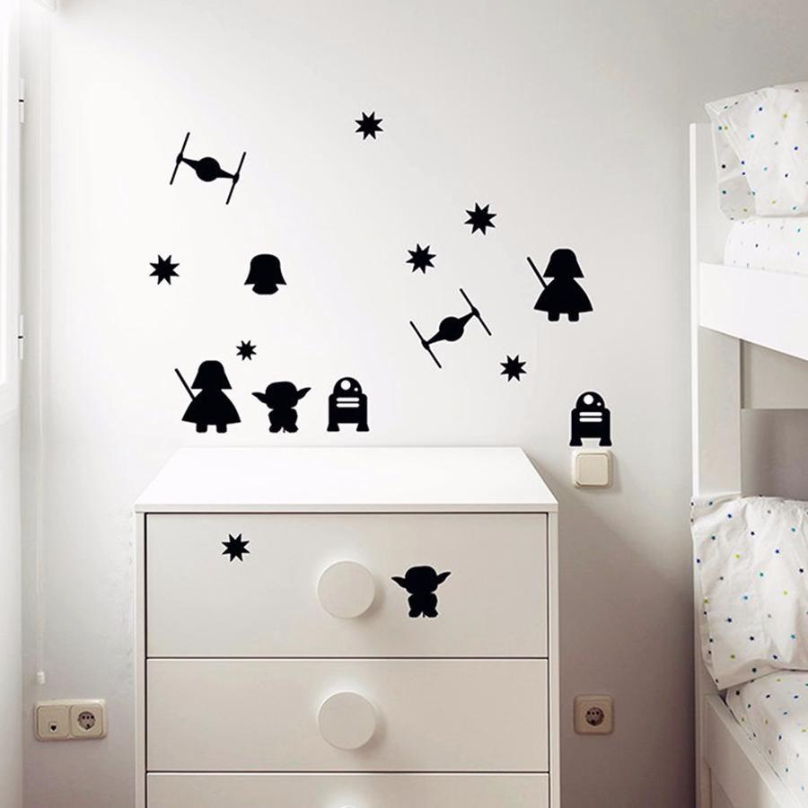 Star Wars Wall Decals Millennium Falcon Vinyl Sticker Decal Fighter Wall Decal Children Kids Nursery Bedroom Office Decor Window Dorm Sisustus