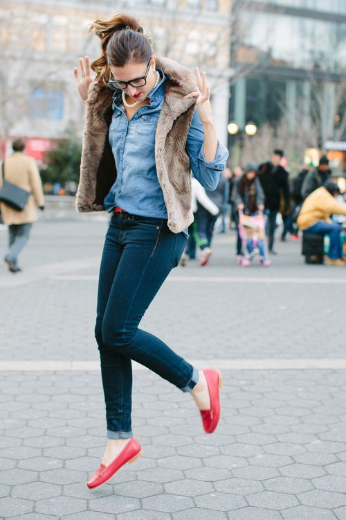 694a9a41fd2 Smart n preppy casual look...love the pop of red