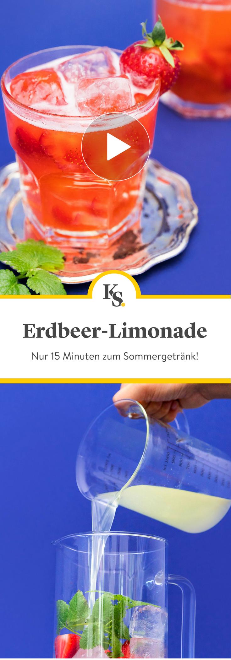Erdbeer-Limonade | Recipe in 2018 | Alkoholfreie Getränke | Pinterest