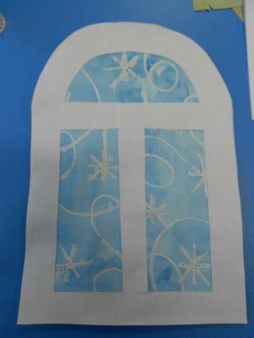 Рисование узоров на окне 2 класс