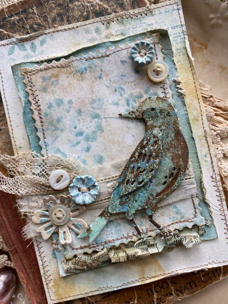 Birthday Card Country Cards Quality NEW Birds Garden Bird Table