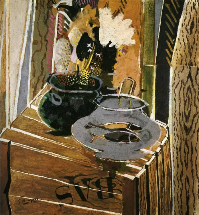 Georges Braque (French, 1882-1963), The Packing Case, 1947. Oil on canvas. via alongtimealone