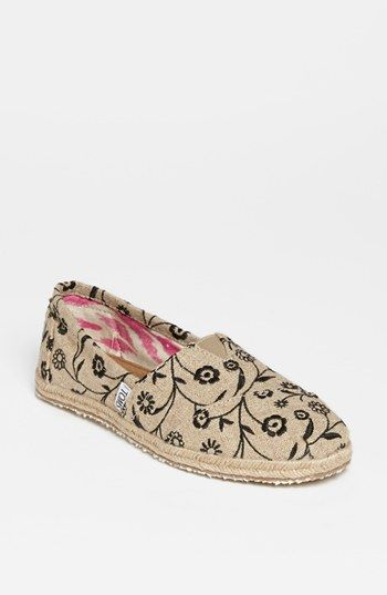 TOMS 'Classic - Floral Ivy' Slip-On (Women) available at #Nordstrom $54 so cute it's hard to decide