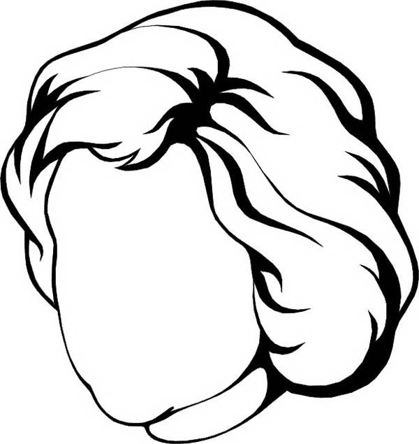 Woman With Heart Shaped Of Face Coloring Page