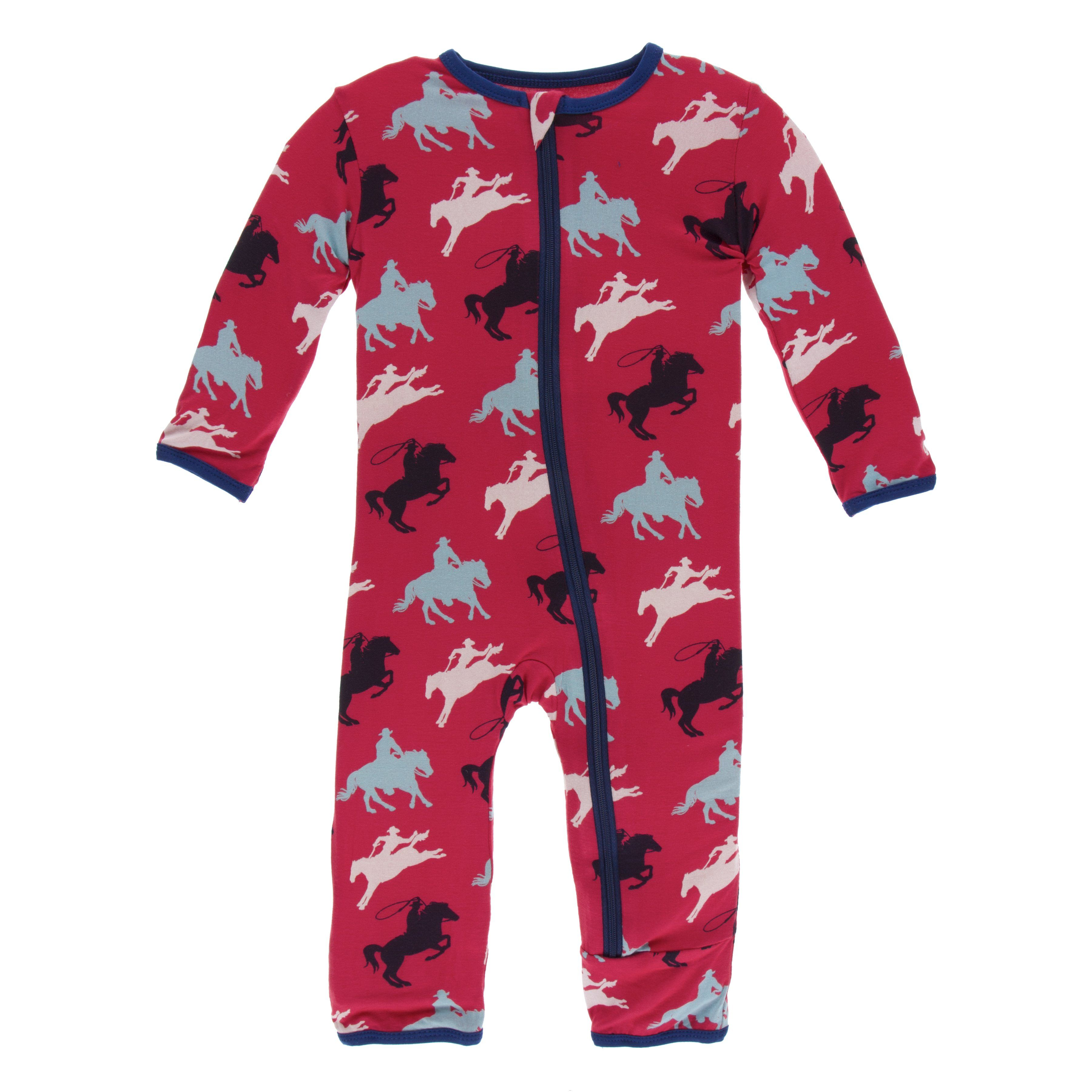 Kickee Pants Print Coverall with ZIPPER - Flag Red Cowboy ...