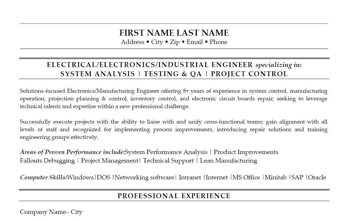 Chemical Engineering Resume Click Here To Download This Industrial Engineer Resume Template