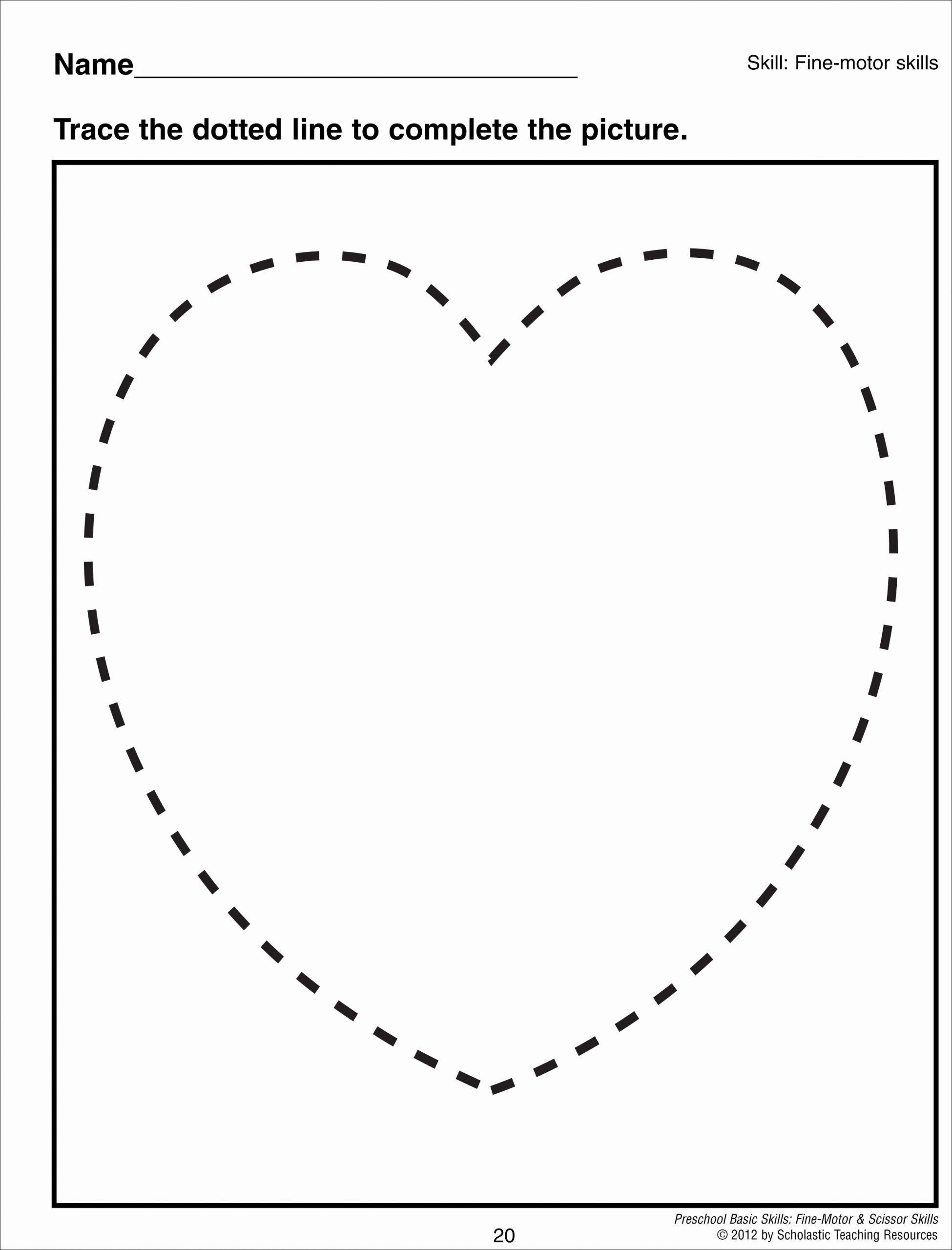 Kindergarten Worksheet For Heart Shaped In