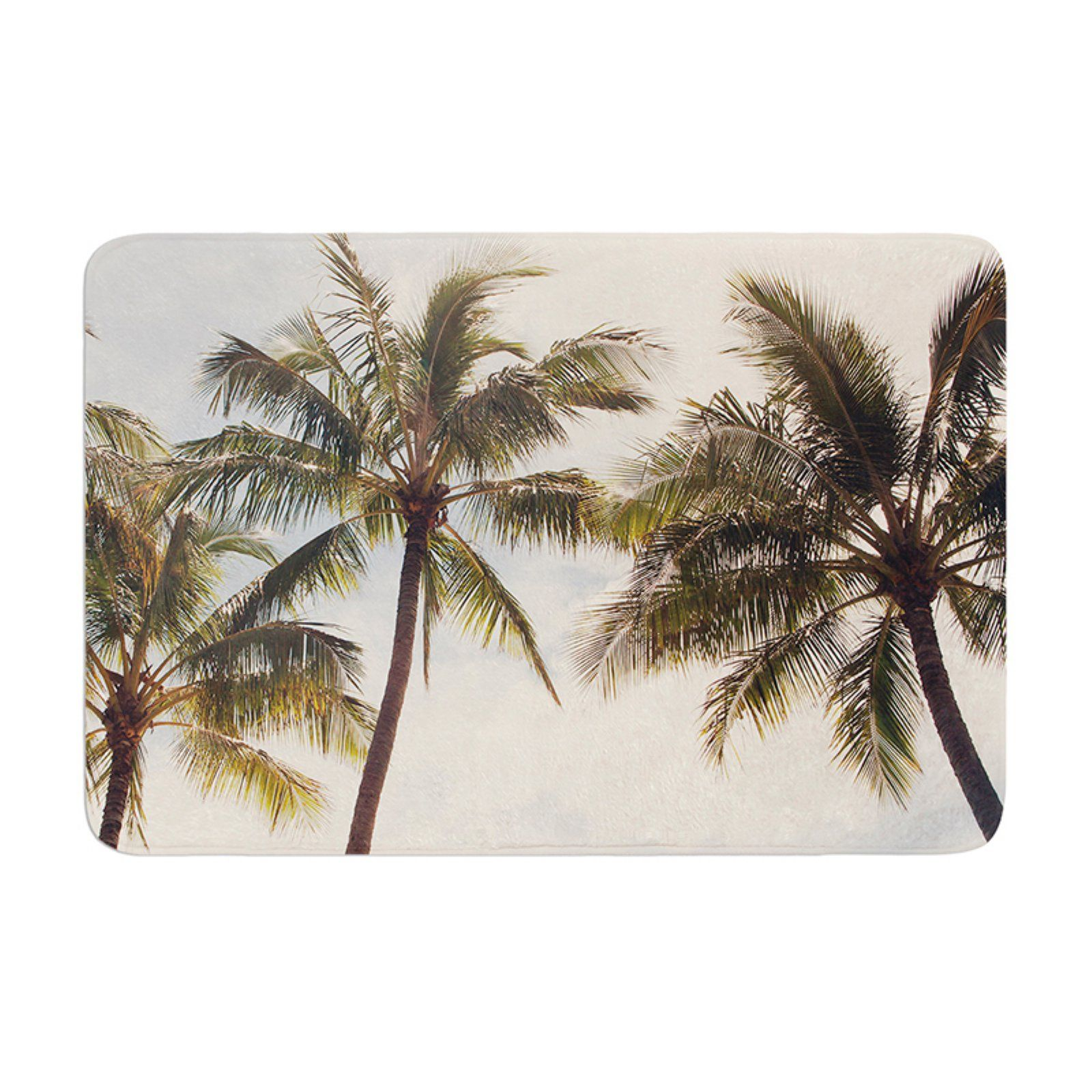 Coastal Trees 20 by 20 Kess InHouse Catherine McDonald Boho Palms Throw Pillow