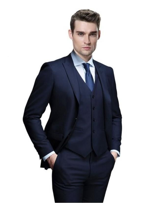 Men's 3 Pieces Wedding Event Party Groom Blazer Suit Vest & Pants ...