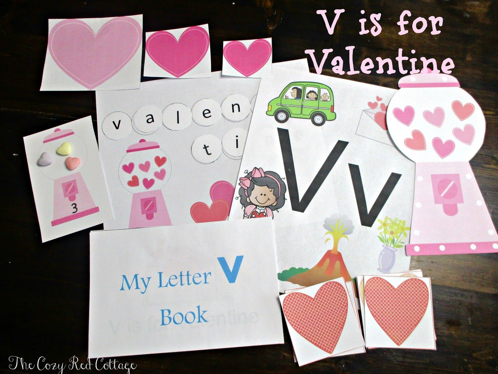 V Is For Valentine Free Preschool Learning Pack