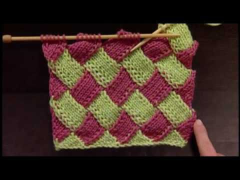 How to Knit Entrelac - Beginner Video on Entrelac Knitting from ...
