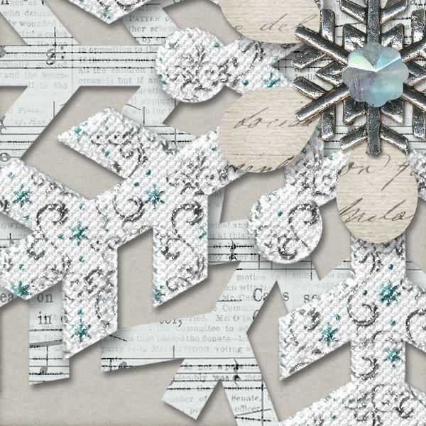 Holidays Allure - Elegant Snowflakes::Gotta Pixel Digital Scrapbook Store