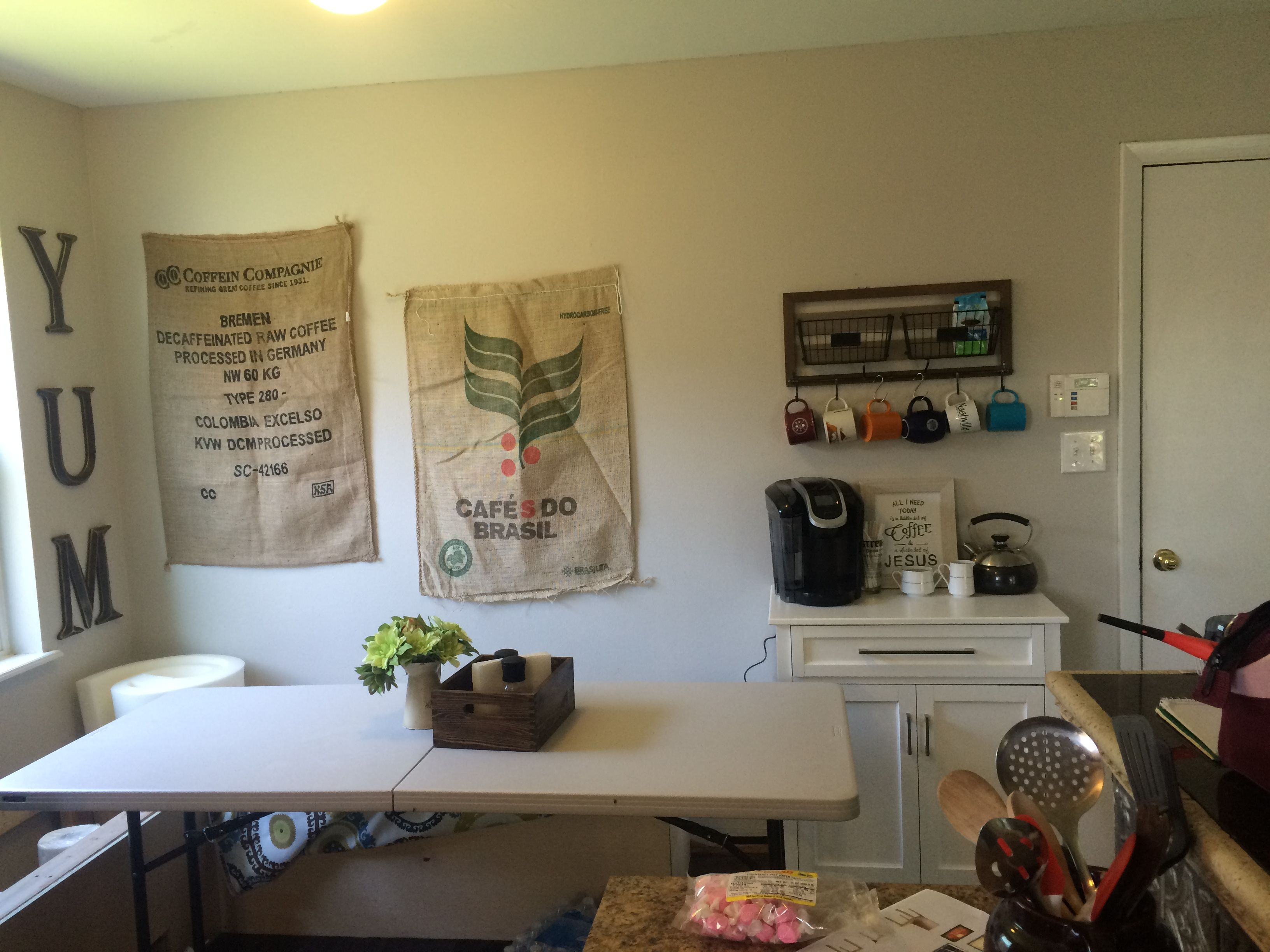 Burlap Sacks For A Fun Inexpensive Way To Fill Any Wall Space 0 77 Each Atwoods Farm And Ranch Store Wall Spaces Home Decor Home
