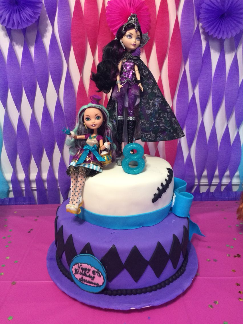 Marvelous Ever After High Cake With Images Fairytale Birthday Party Personalised Birthday Cards Veneteletsinfo
