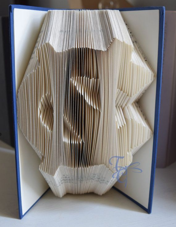 Folded Book Art  North Carolina  NC  College  by TodaysCreations1