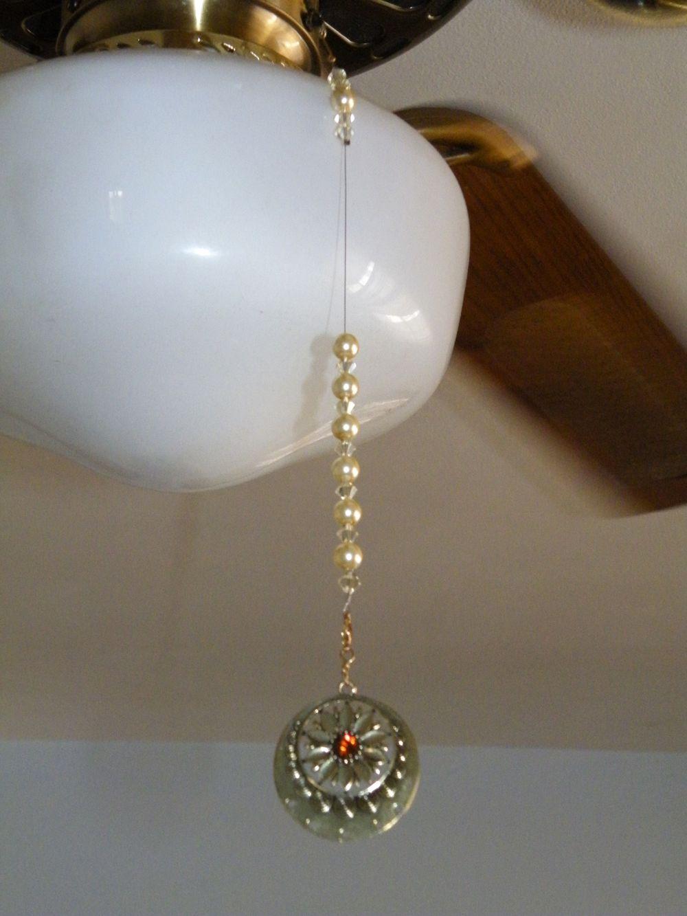 Fan Pull Using Beads Ceiling Fan Light Pulls Fan Pulls Diy Monthly Crafts
