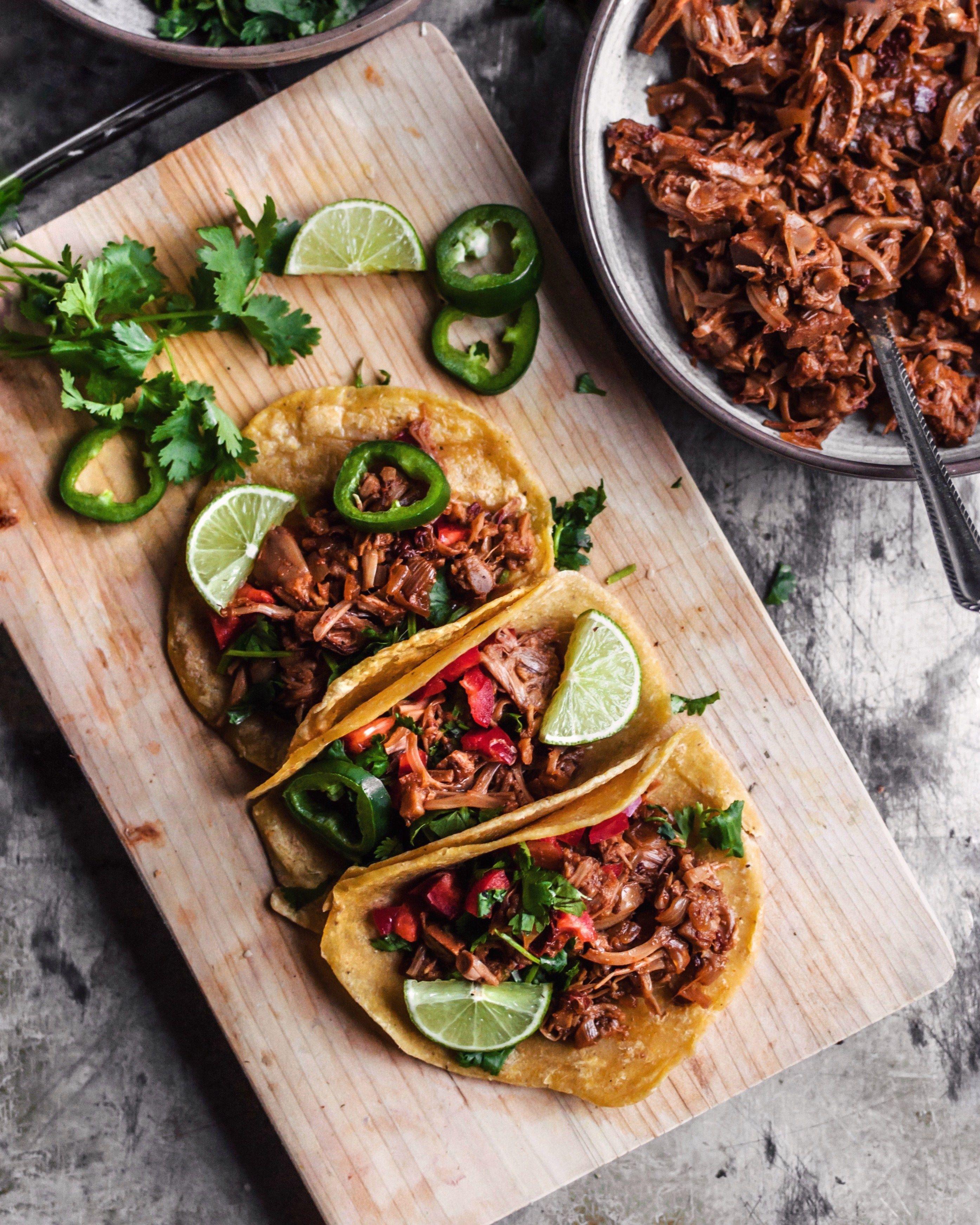 Jackfruit Carnitas Tacos Vegan Jackfruit Carnitas Food Carnitas Tacos