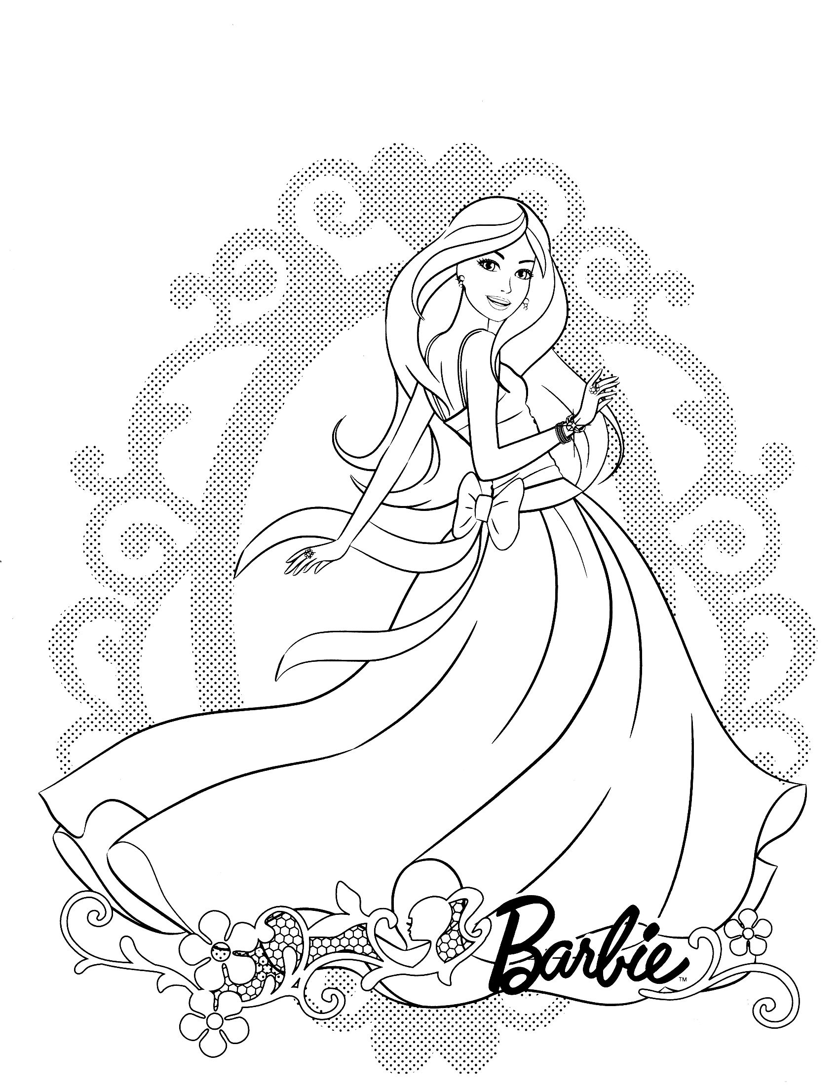 Coloring Pictures Of Barbie Princess In 2020 Cartoon Coloring Pages Barbie Coloring Princess Coloring Pages