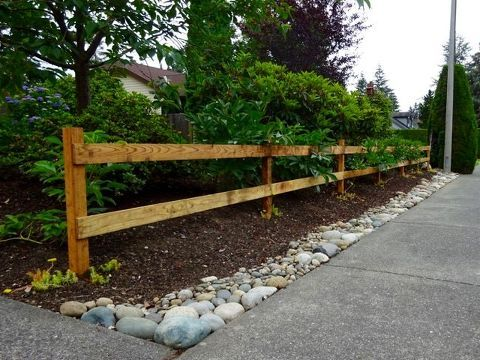 How to Build a Two Rail Wood Fence is part of garden Decoration How To Build - Does part of your yard border the street, where people walk their dogs  Do people let their dogs wander into your garden and make a mess That was the problem I…