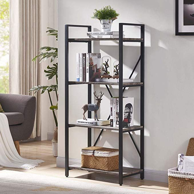 bon augure 4 shelf open narrow bookshelf vintage on simple effective and easy diy shelves decorations ideas the way of appearance of any space id=58304