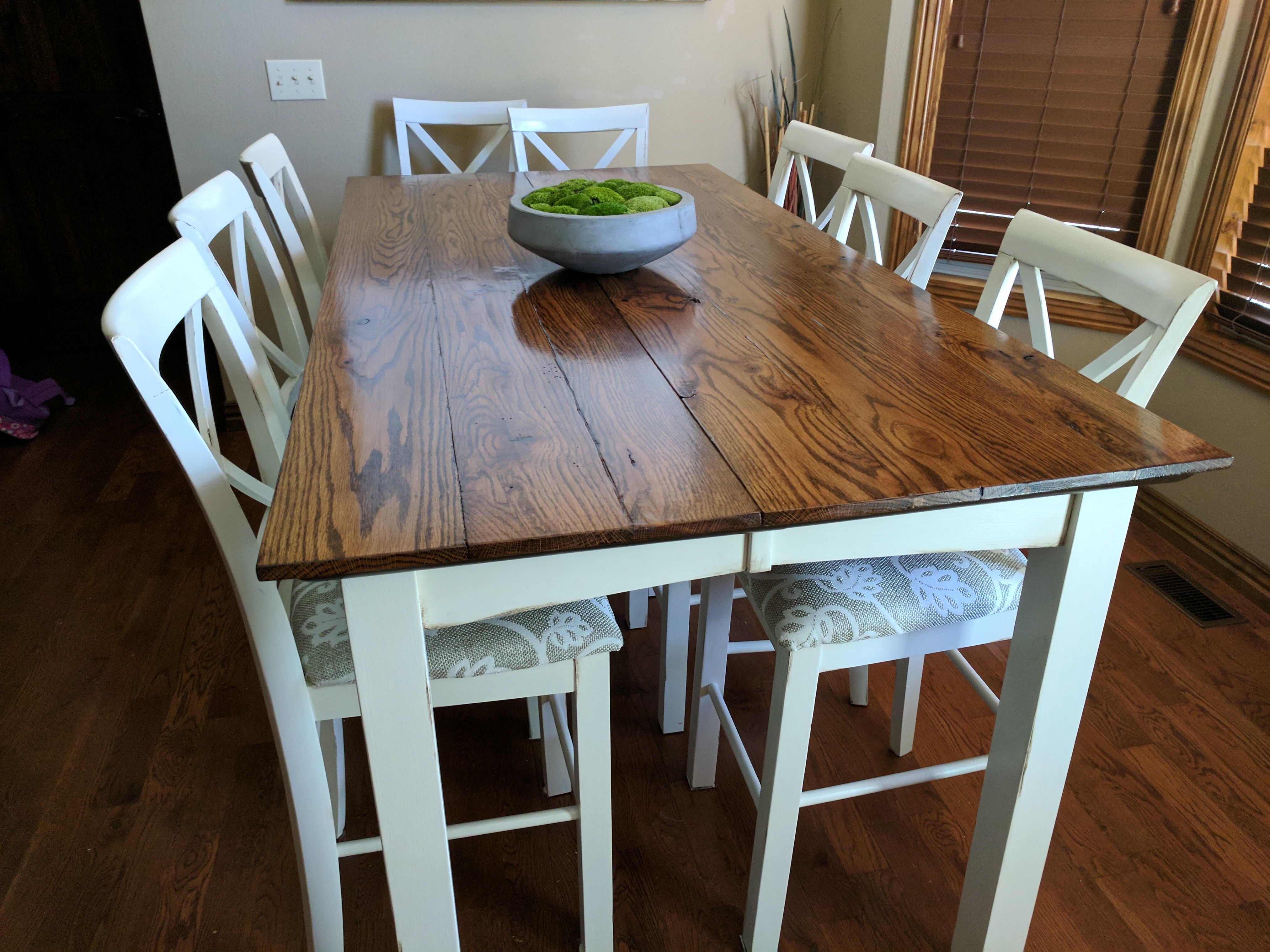 Added A New Top To Our Old Cheap Table And Increased The Size To Magnificent Size Of Dining Room Table For 10 Inspiration Design