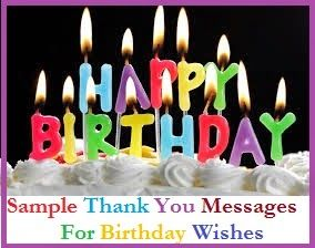 Thank You Messages  Sample Thank You Messages For Birthday