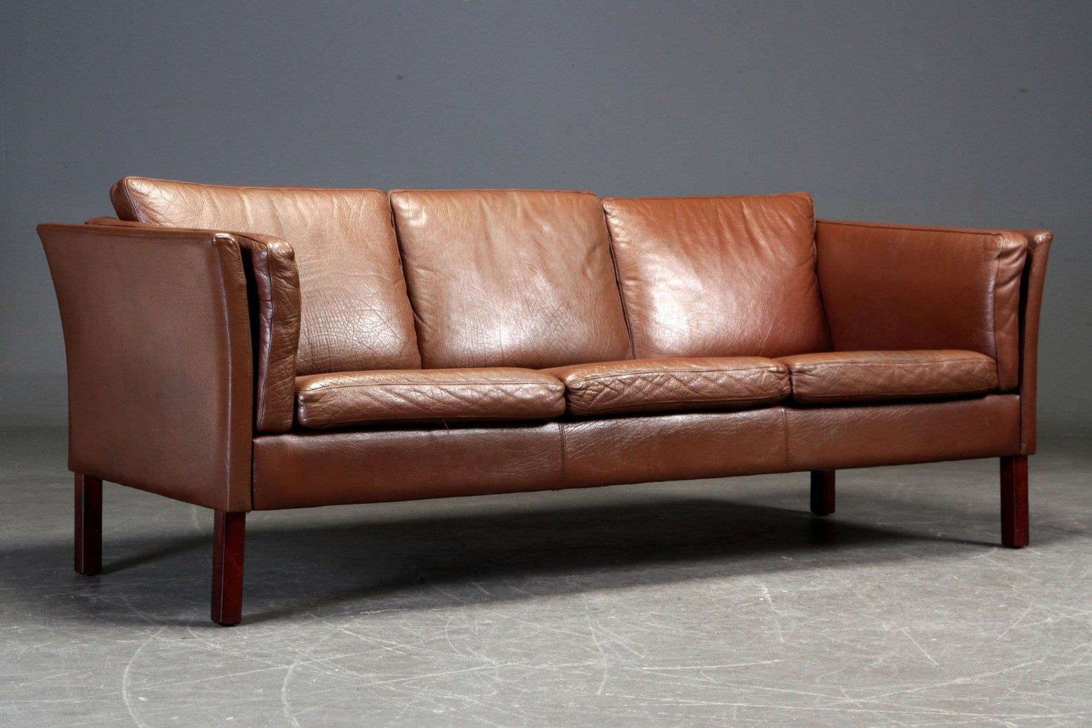 Great 3 Seater Vintage Leather Sofa Danish Mid Century Etsy In 2020 Vintage Leather Sofa Leather Sofa Vintage Leather