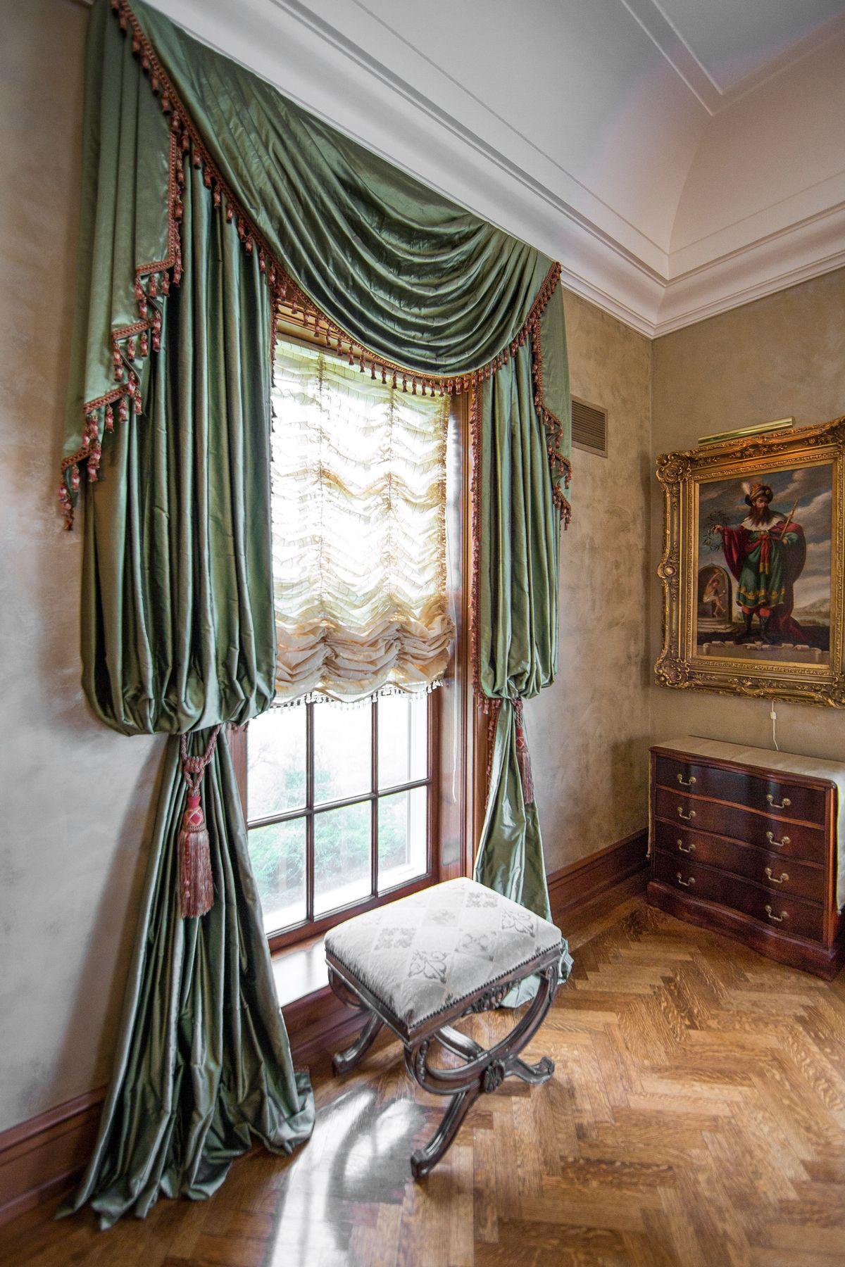 Window covering ideas  regal u dramatic custom window treatments see more  window