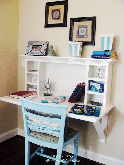 Built In Desk Looks Simple Enough Decorating Ideas